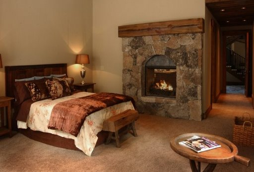 Master bedroom and fireplace live the tahoe life style Master bedroom with fireplace images
